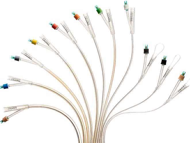 Cewnik urologiczny z jonami srebra Bactiguard