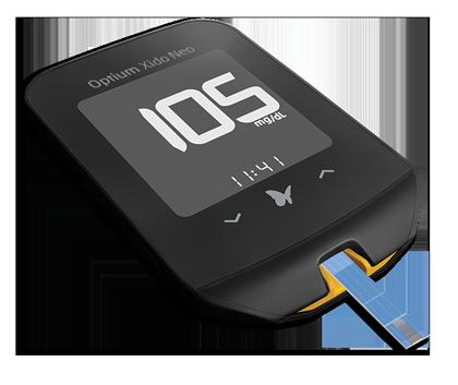 Glukometr Opium Xido Neo mierzy poziom glukozy we krwi oraz poziom ciał ketonowych