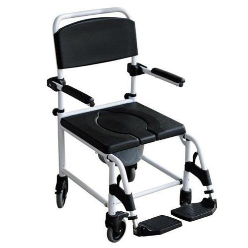Wózek toaletowo-prysznicowy, aluminiowy