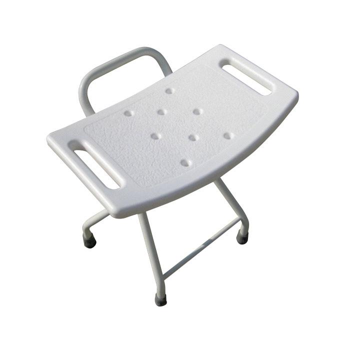 Taboret prysznicowy składany, stalowy
