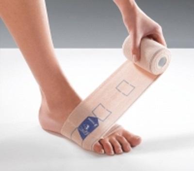 Bandaż kompresyjny na obrzęki limfatyczne, ze strzemieniem na stopę
