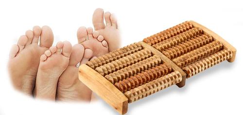 Masażer, rolki do stóp, drewniany