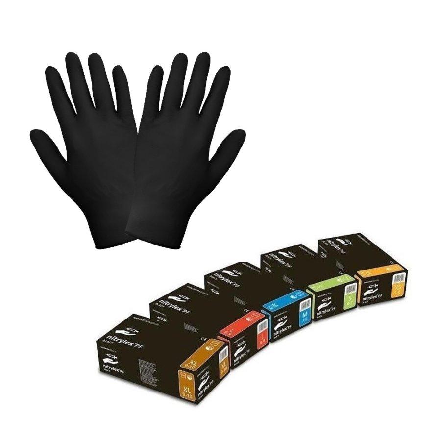 Rękawice nitrylowe czarne – Nitrylex black