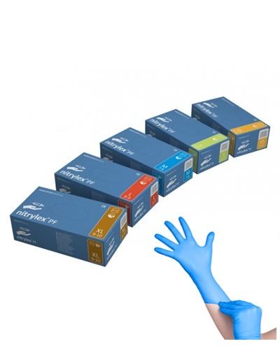 Rękawice nitrylowe niebieskie – Nitrylex blue