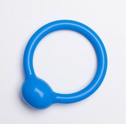 Pessar cewkowy, pierścieniowy ze zgrubieniem na okolicę cewki, z aluminiowym rdzeniem