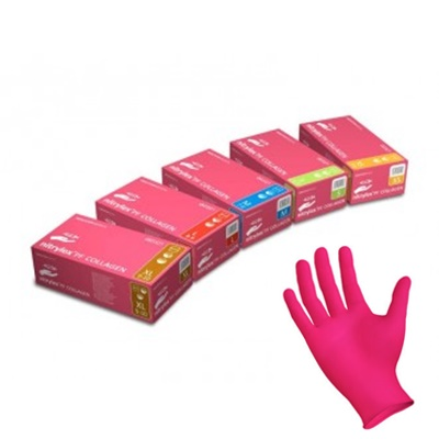 Rękawice nitrylowe różowe – Colegenowe
