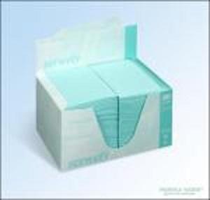 Serwety stomatologiczne składane, bibułowo-foliowe