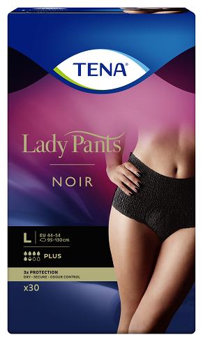 TENA Lady Pants Plus czarne – bielizna chłonna dla kobiet