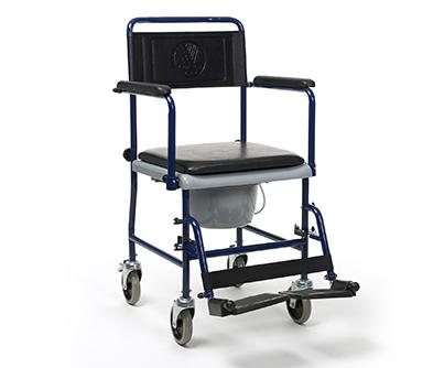 Wózek toaletowy z pojemnikiem sanitarnym na czterech kołach model 139
