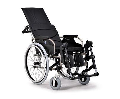 V300 30 Aluminiowy wózek ze stabilizacją głowy i pleców z odchylanym oparciem do 30°